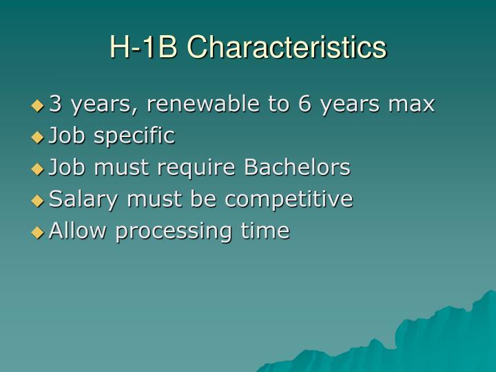 H-1B Characteristics