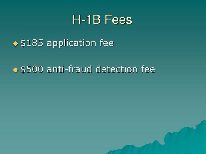 H-1B Fees