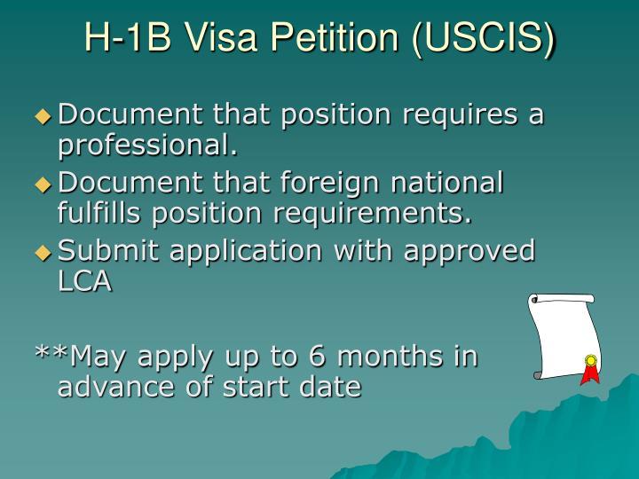 H-1B Visa Petition (USCIS)