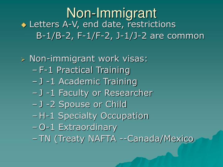Non-Immigrant