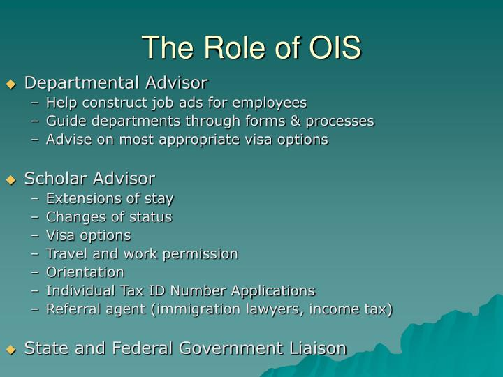 The Role of OIS
