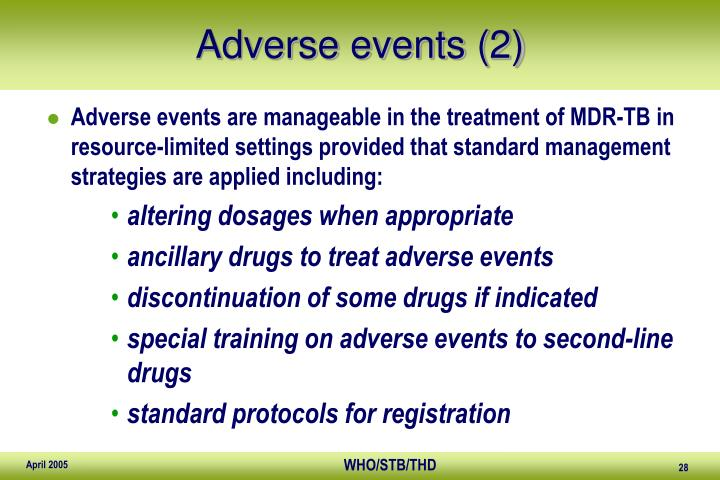 Adverse events (2)