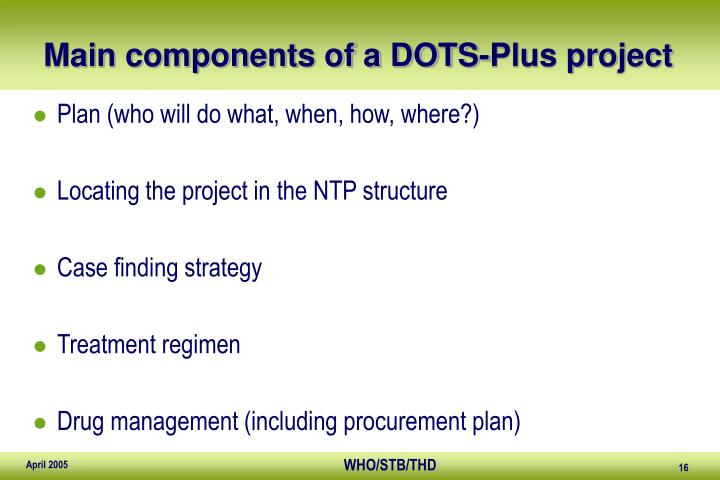 Main components of a DOTS-Plus project
