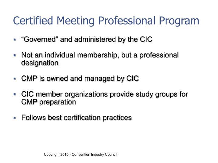 Certified Meeting Professional Program