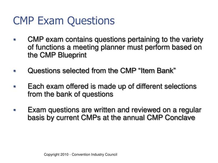 CMP Exam Questions