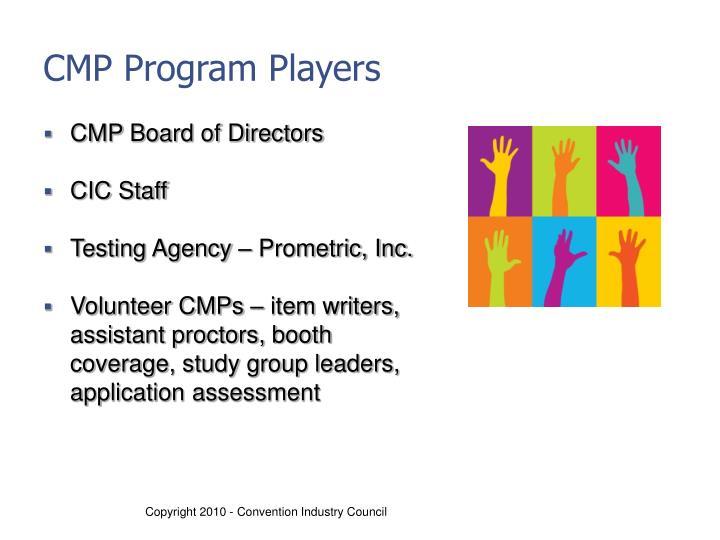 CMP Program Players