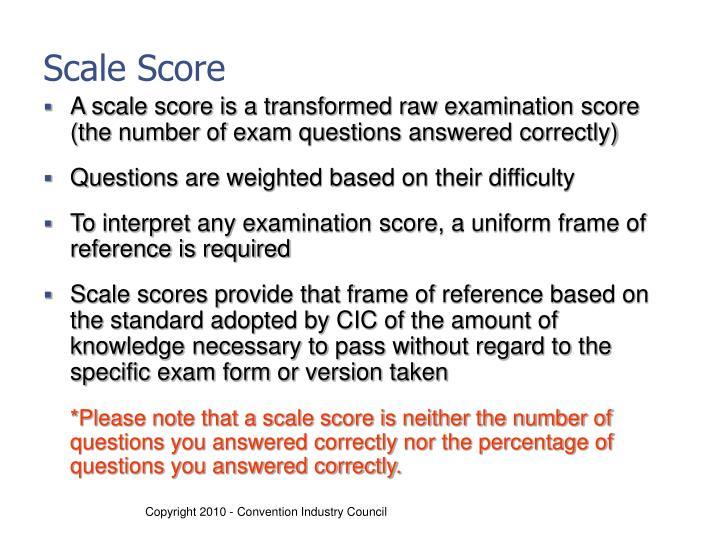 Scale Score