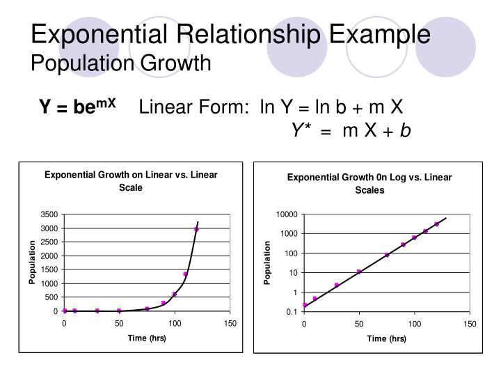 Exponential Relationship Example