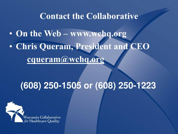 Contact the Collaborative