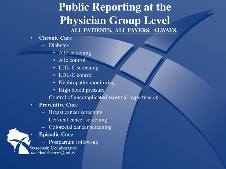 Public Reporting at the