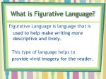 what is figurative language