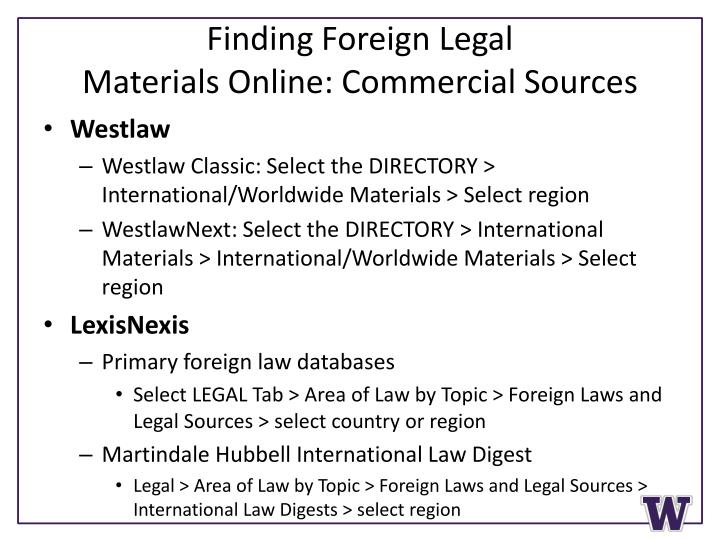 Finding Foreign Legal
