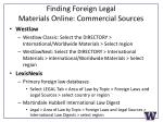 finding foreign legal materials online commercial sources