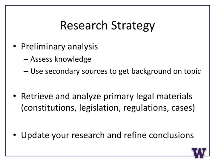 Research Strategy