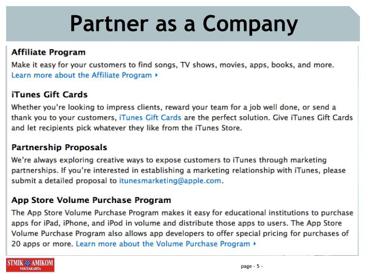 Partner as a Company