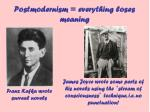 postmodernism everything loses meaning