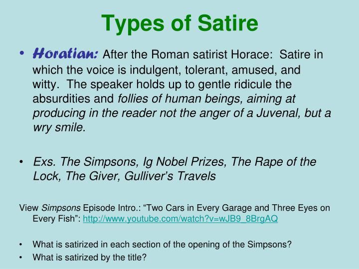 Types of Satire