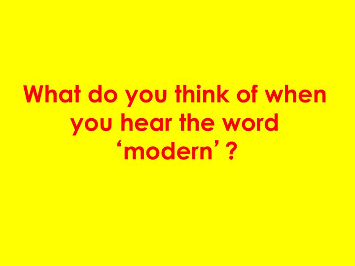 What do you think of when you hear the word