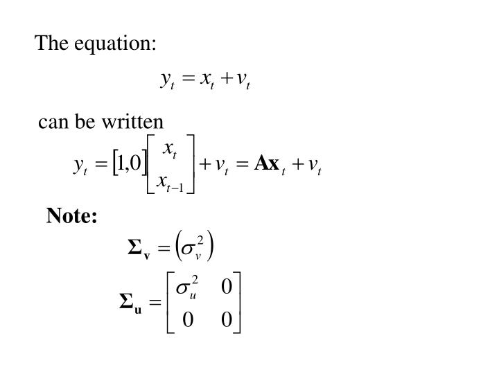 The equation: