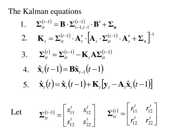 The Kalman equations