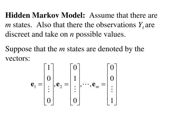 Hidden Markov Model: