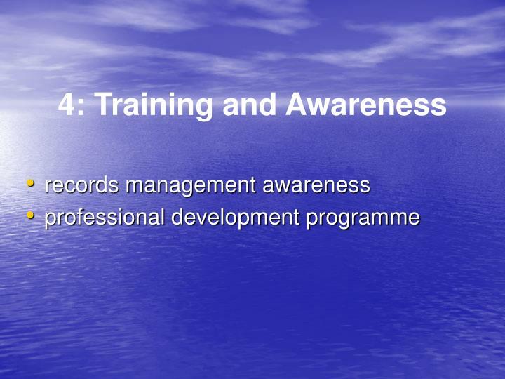 4: Training and Awareness