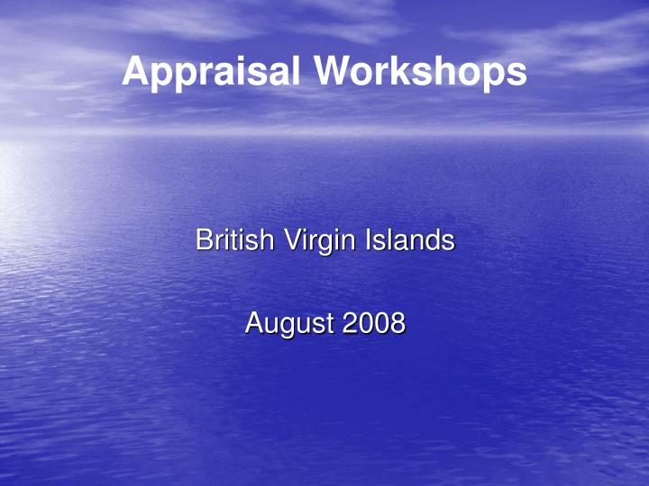 appraisal workshops
