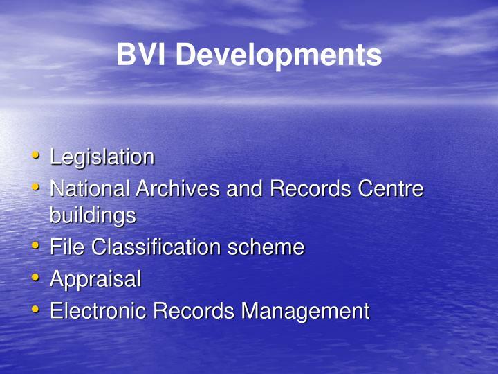 BVI Developments