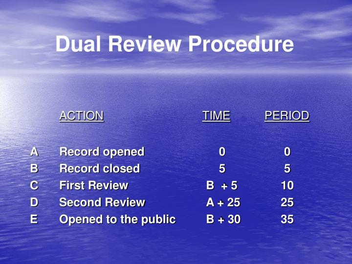 Dual Review Procedure