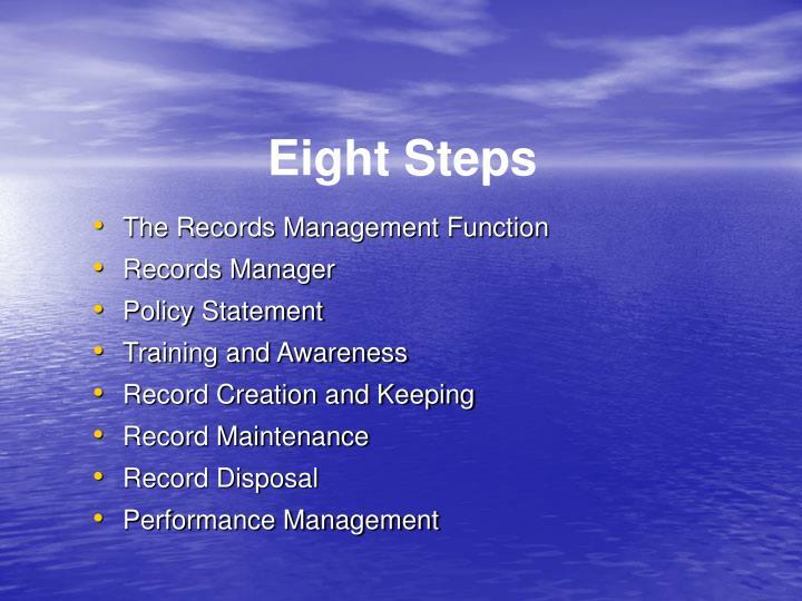 Eight Steps