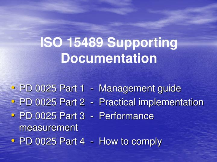 ISO 15489 Supporting Documentation