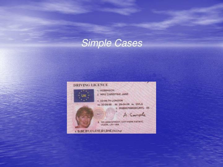 Simple Cases