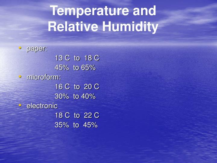 Temperature and