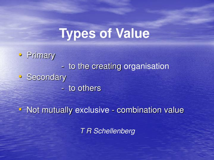 Types of Value
