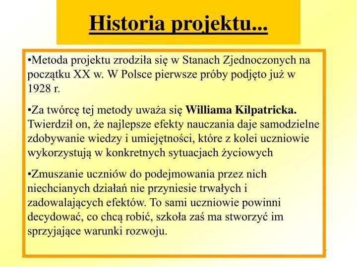 Historia projektu...