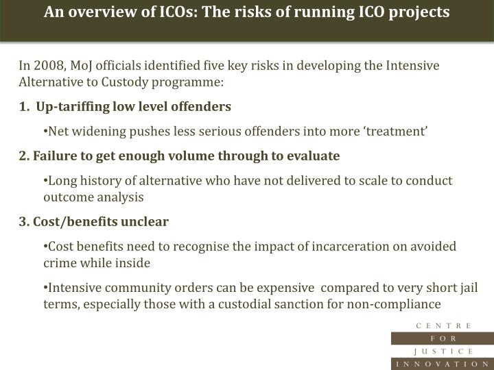 An overview of ICOs: The risks of running ICO projects