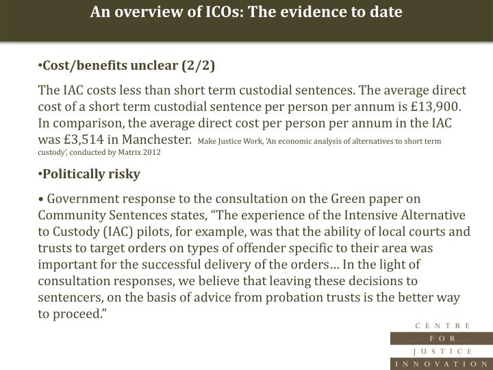 An overview of ICOs: The evidence to date