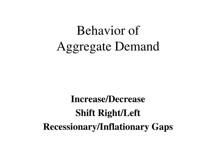 behavior of aggregate demand
