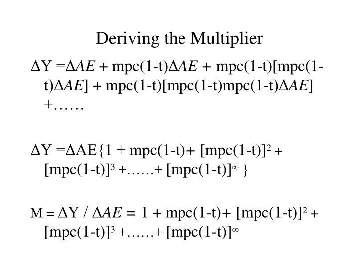 Deriving the Multiplier