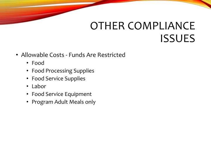 Other Compliance Issues