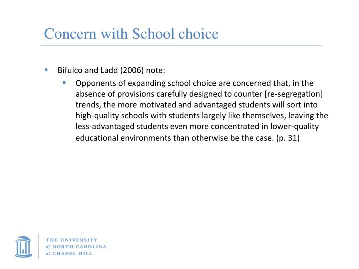 Concern with School choice