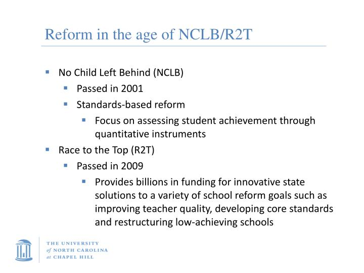 Reform in the age of nclb r2t
