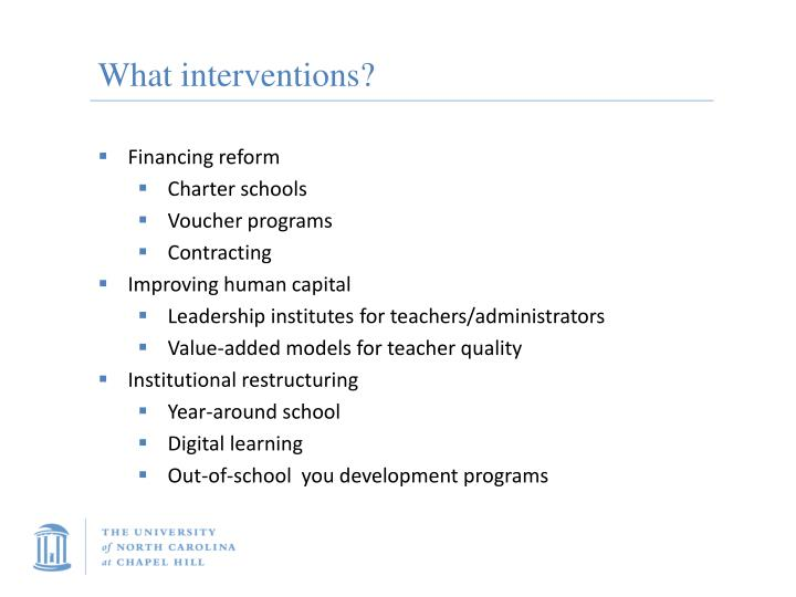 What interventions?