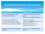 verification review documents