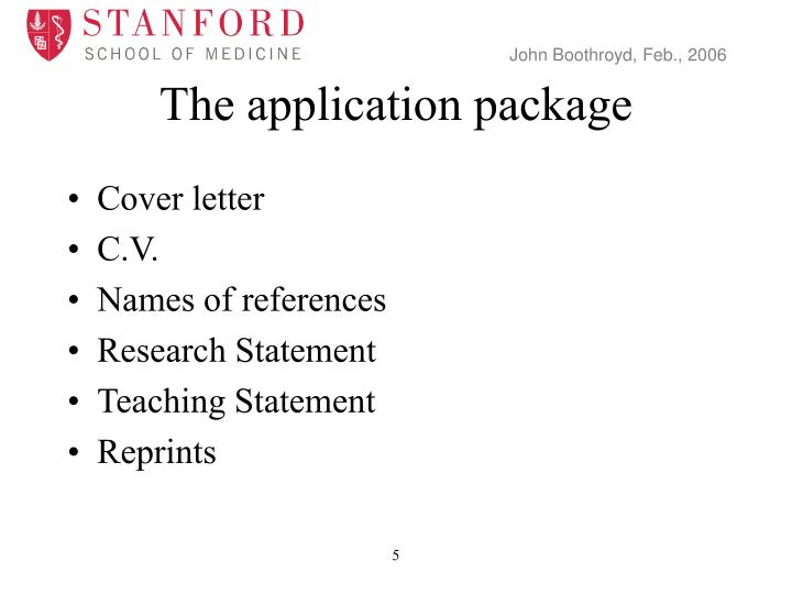 The application package