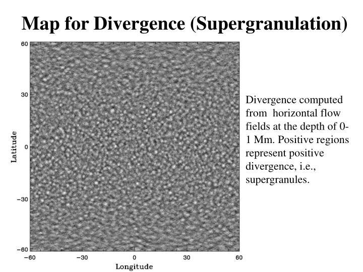 Map for Divergence (Supergranulation)