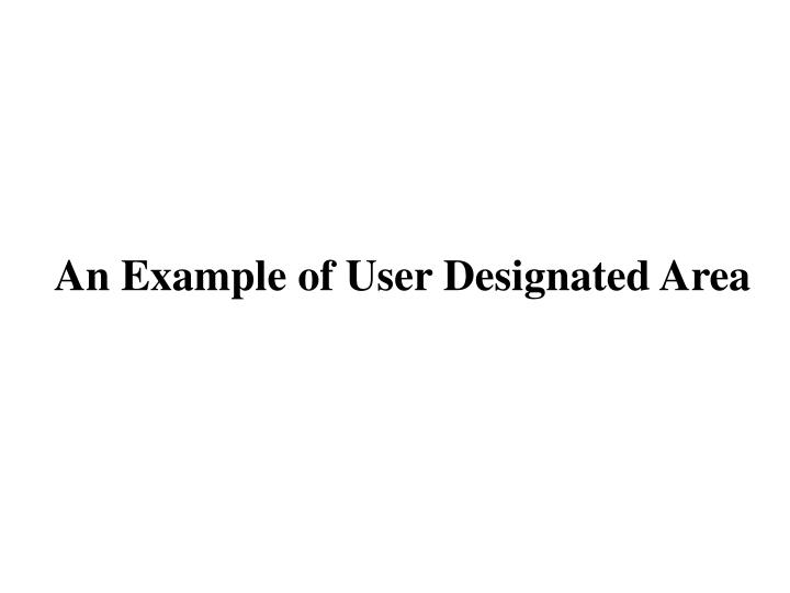 An Example of User Designated Area