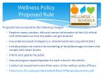 wellness policy proposed rule