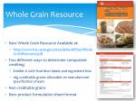 whole grain resource