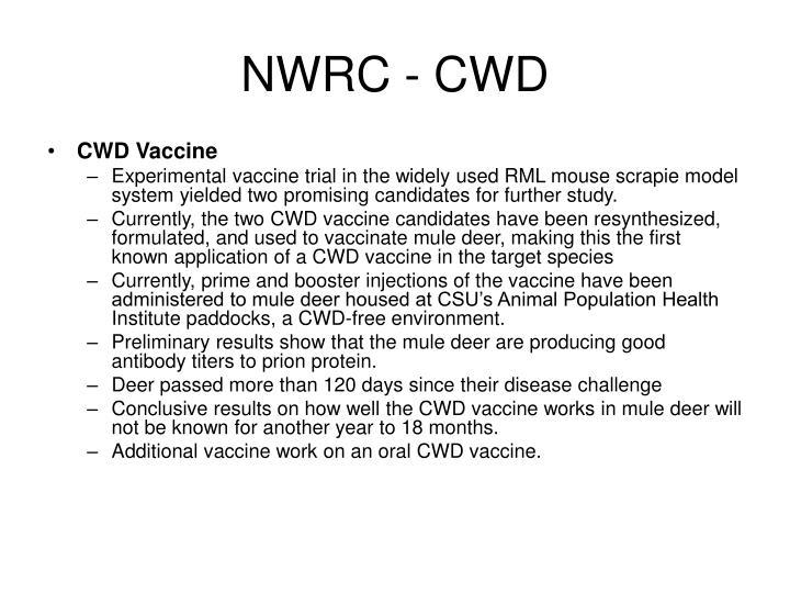 NWRC - CWD